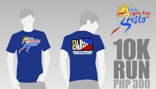 Takbo Para Kay Kristo 2010 - singlet and shirt 10k