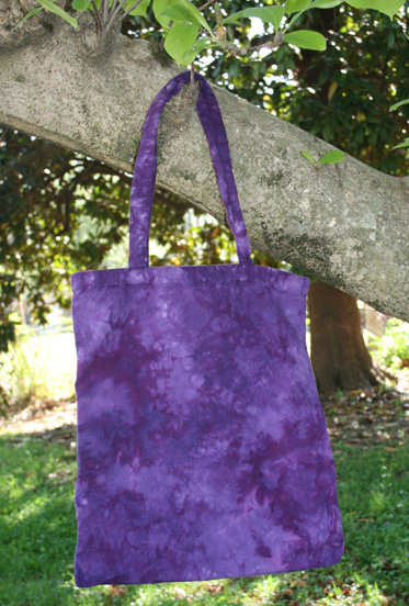 *Concord Grapes* hand dyed canvas shopping bag