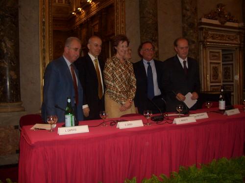 Liberali per Edoardo Croci -  Livio Caputo, Edoardo Croci, Letizia Moratti, Egidio Sterpa, Mauro Della Porta Raffo, Raffaele Costa, 2006