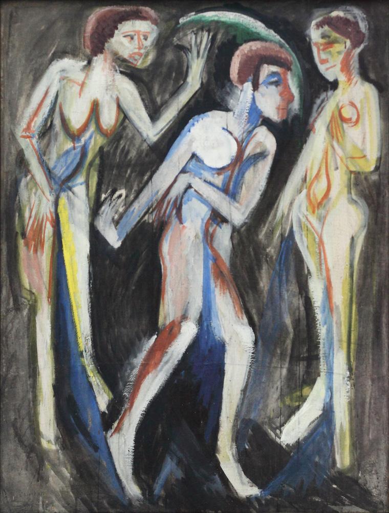 Ernst Ludwig Kirchner, Der Tanz zwischen den Frauen [Dance between women], 1915