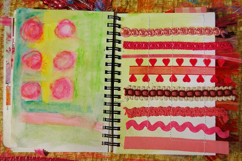Pink Notebook: pink and green
