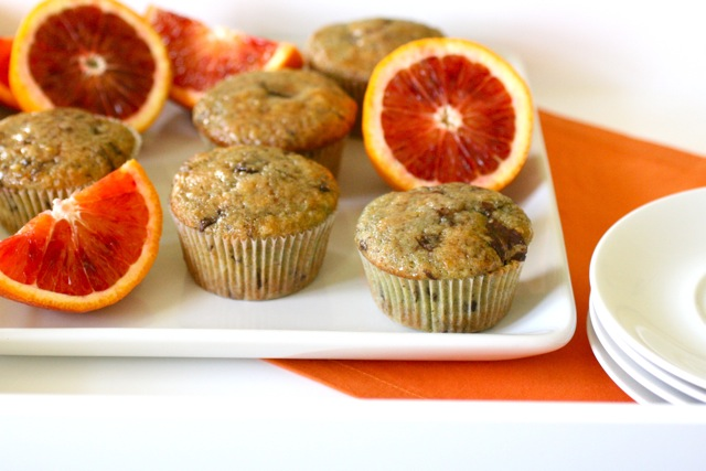 Blood Orange Chocolate Chunk Muffins