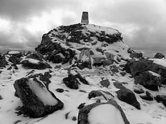 Ben Nevis Summit Trig (KRLandscapes) Tags: camera mountain june scotland ben 4 summit nevis iphone in derbytoedinburghtrain
