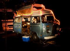 VW Bus (Curtis Gregory Perry) Tags: vw volkswagen bus van vanagon christmas lights rv camper camping nikon d300 automóvil coche carro vehículo مركبة veículo fahrzeug automobil