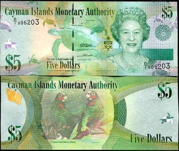 5 Dolárov Kajmanie ostrovy 2010 (2011)