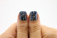 Carimbo (beeanka.) Tags: azul oncinha stamp carimbo nailart unhadecorada