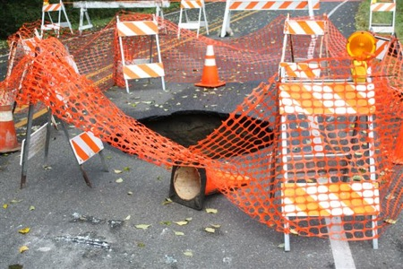 Clinton Sinkhole on Whidbey Island