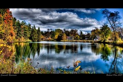 Sawmill Reservoir (Richard Pilon) Tags: autumn fall water landscape pond reservoir hdr sawmill anawesomeshot cameradeourobrasil flickrdiamond nikond90club