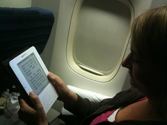 Kindle airplane reading