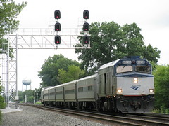Amtrak in Porter Indiana (codeeightythree) Tags: railroad signals amtrack passengertrain porterjunction