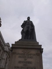 Statue of Spencer Compton - Eighth Duke of Devonshire - Whitehall (ell brown) Tags: greatbritain england london statue bronze unitedkingdom figure base whitehall yorkstone cityofwestminster greaterlondon spencercompton memorialstatue gradeiilisted bronzefigure eighthdukeofdevonshire