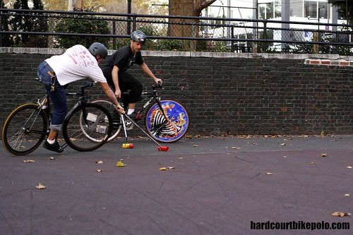 Ken stanek and Johnny midwest play bike polo