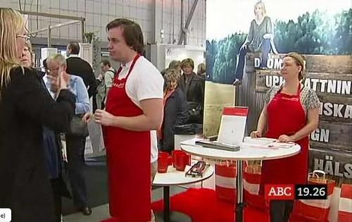 ABC Nytt gör reportage om Middagsfrid på mässan Det goda köket