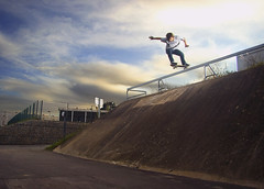 Pierre - Tail Drop (TimoT) Tags: bridge automne fence concrete high blood ditch skateboarding pierre board air tail rad indy grand spot drop ollie skatepark independent skate skateboard gnarly pont carnage backside banane grind nantes banc sk8 frontside fs thrasher bton coping mear raide