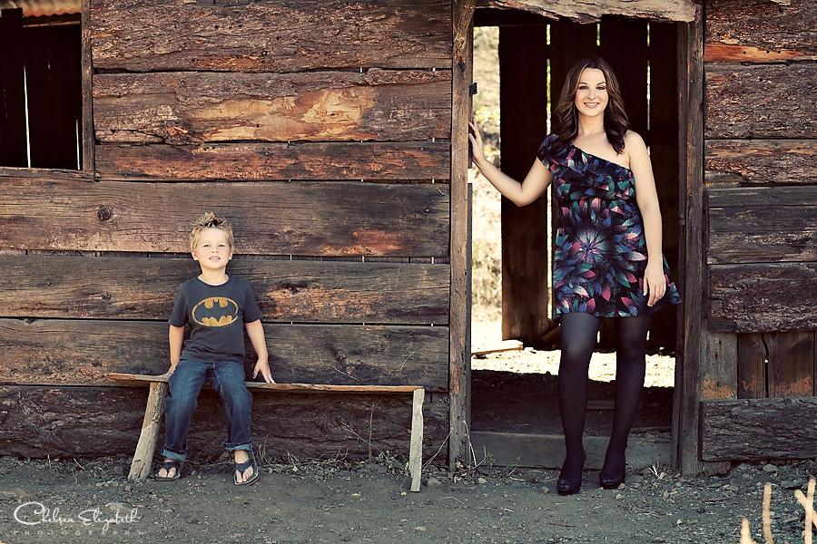 Log cabin vintage portrait photography