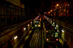 (Brian Hagy) Tags: chicago public night train subway cta tracks tunnel il transportation transit elevated