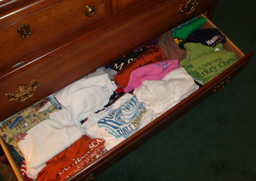 too many t-shirts