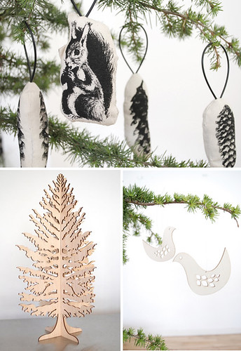 * d a a n * 拍攝的 scandinavian style xmas ornaments。