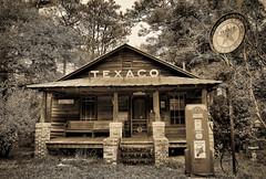 Old Texaco Station (minds-eye) Tags: southcarolina gasstation texaco oldcars