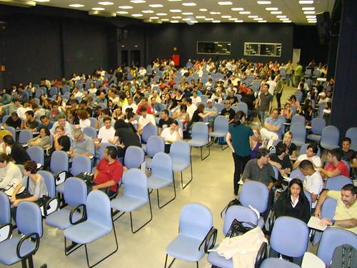 Plateia do evento, descobrindo o design em CC