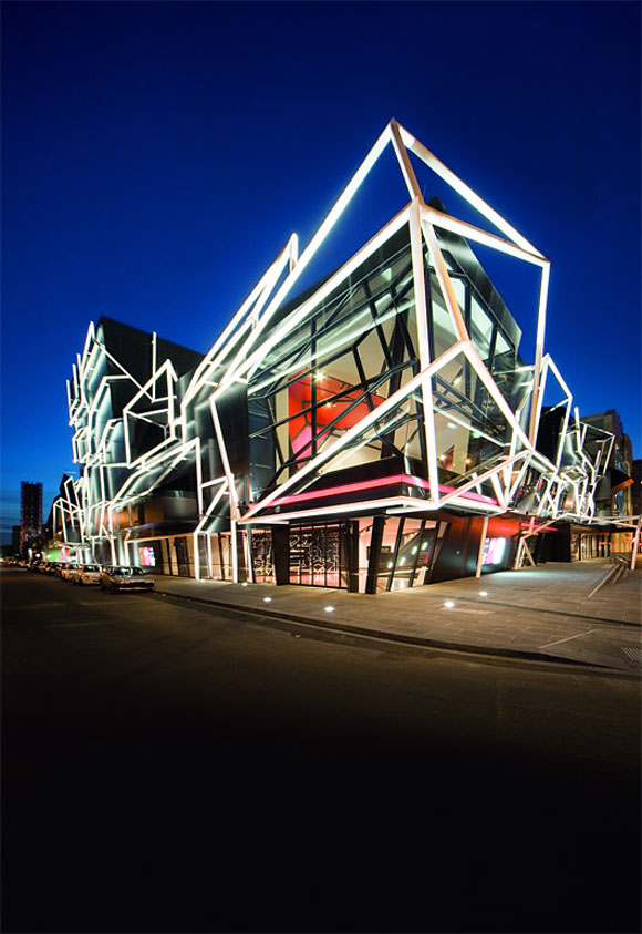 Arcitecture of Modern Theater Building in Melbourne