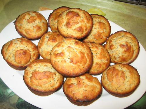 Lemon poppy seed muffin stack
