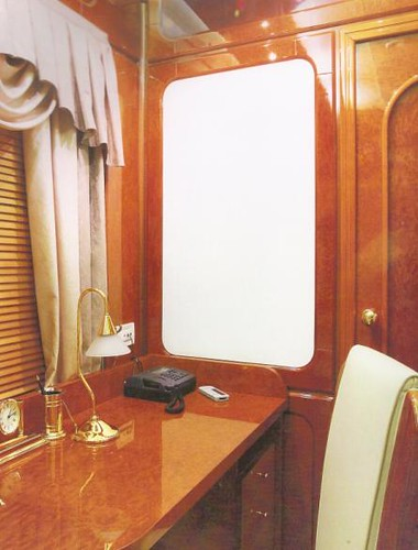 Private Rail Car in Russia - writing desk