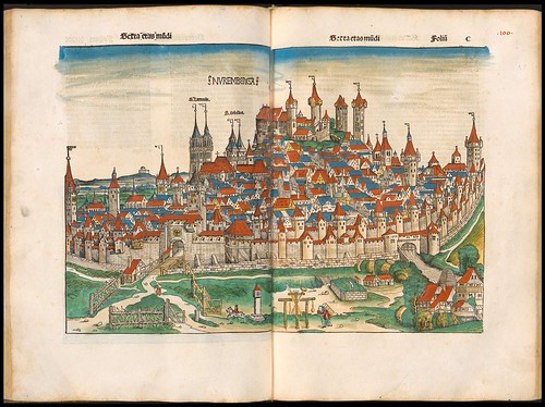 City map of Nuremberg - Liber Chronicarum (p. 272)
