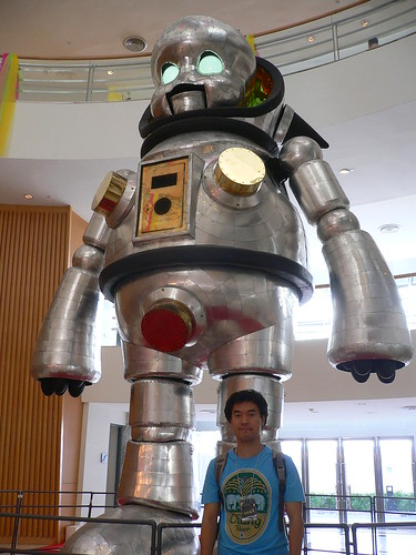 take a photo  with super robot