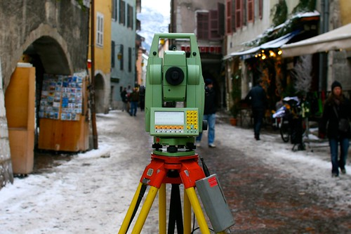 The city being measured (by a Leica device)