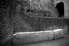 Inside the Colosseum, Rome (Nickmard Khoey Historical Archive) Tags: 2009 nickmard italy rome roman nikond300 sigma1020 anfiteatroflavio roma romancoliseum amphitheatrumflavium colosseo colosseum latin brick marble wwwnickmardcom