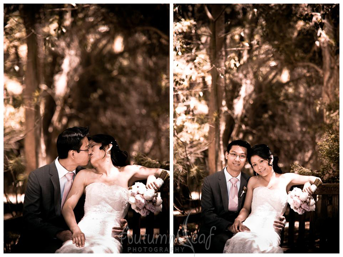 Clare & Nic's Wedding - In a park (by Autumnleaf Photography)