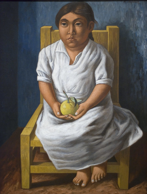 Untitled (Seated Girl Holding An Apple), 1943