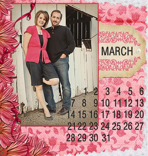 digi calendar march