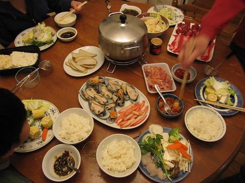hot pot at home fixings