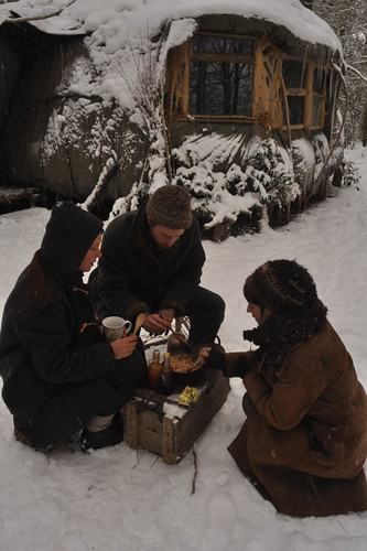 Breakfast in the snow