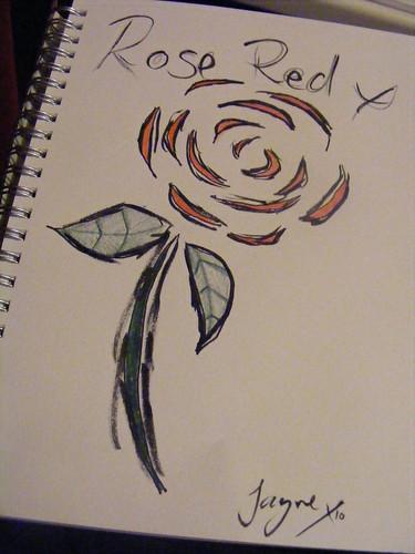 Rose Stencil Print 1