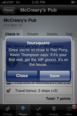 Foursquare use in Franklin, TN