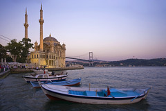 _MG_6396 (Michele F.) Tags: city architecture night turkey asian religious evening boat asia europe harbour dusk minaret jetty muslim islam religion middleeast cities istanbul turkish bosphorus islamic capitalcity traveldestinations bosphorusbridge ortakoymosque worldlocations westernasia