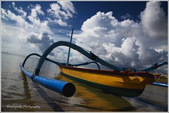 The Boat and The Sea (rherdiyanto) Tags: bali landscape boat semawang beautifulbali exceptionallybeautifulbaligallery