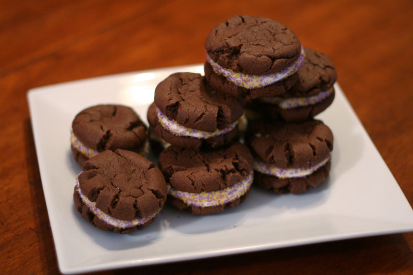Chocolate Cake Cookie Sandwiches