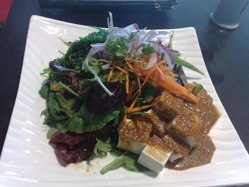 tofu & wakame salad