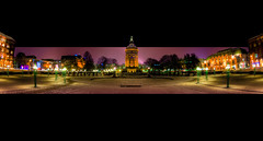City Park (Shoeven) Tags: panorama tower water night germany nikon tokina mannheim hdr 1017 2010 d90