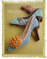 High heel shoe cookies (JILL's Sugar Collection) Tags: food girl cookies shoe decoration sugar icing piping foodcolor royalicing sugarcraft