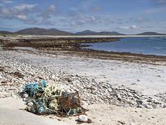 All washed up (tricycledteenager) Tags: seascape beach debris shoreline sands whitesand westernisles atlanticocean southuist fishingtackle desertedscotland