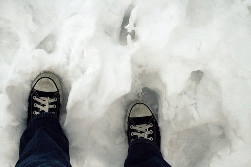 chucks in the snow!