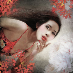 ...with the red of the Oriental (nene-ane(ON - OFF)) Tags: selfportrait textures gpc soulscapes idream realmagic memoriesbook awardtree exphoto artofimages artistictreasurechest miasbest bestportraitsaoi
