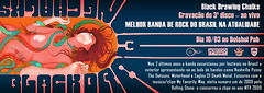 Ao vivo - Banner (ilustracionamentador) Tags: show music woman black art rock poster design pub arte drawing mulher victor musica posters draw ao desenho vivo chalks bolshoi polvo gravacao victorjam