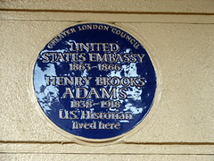 Photo of United States Embassy in London and Henry Brooks Adams blue plaque