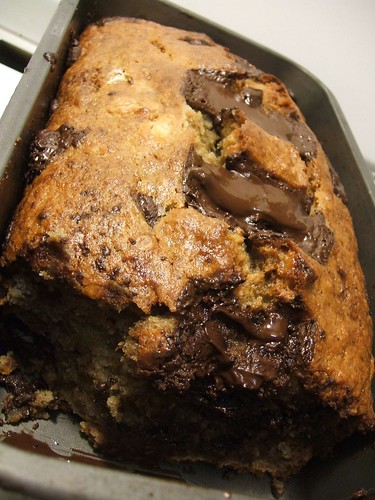 raspberry chocolate chunk banana bread.